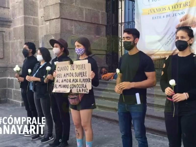 Protestan jóvenes por agresiones a candidatos políticos en México