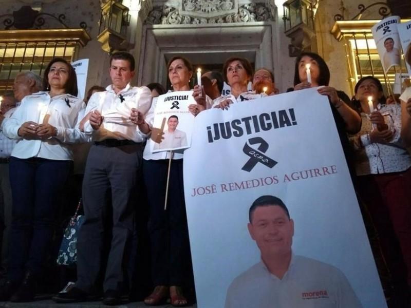 Protestan por asesinato de candidato