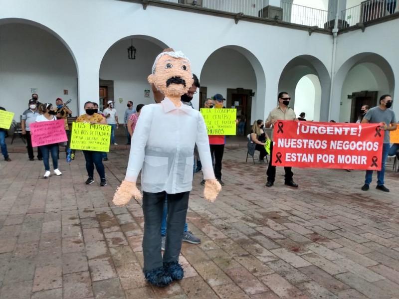 Protestas contra el alcalde llegan a la CEDH