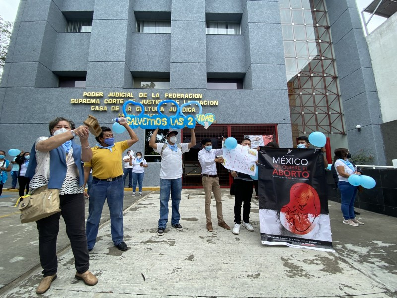 Provida manifiestan rechazo a despenalización del aborto en Xalapa