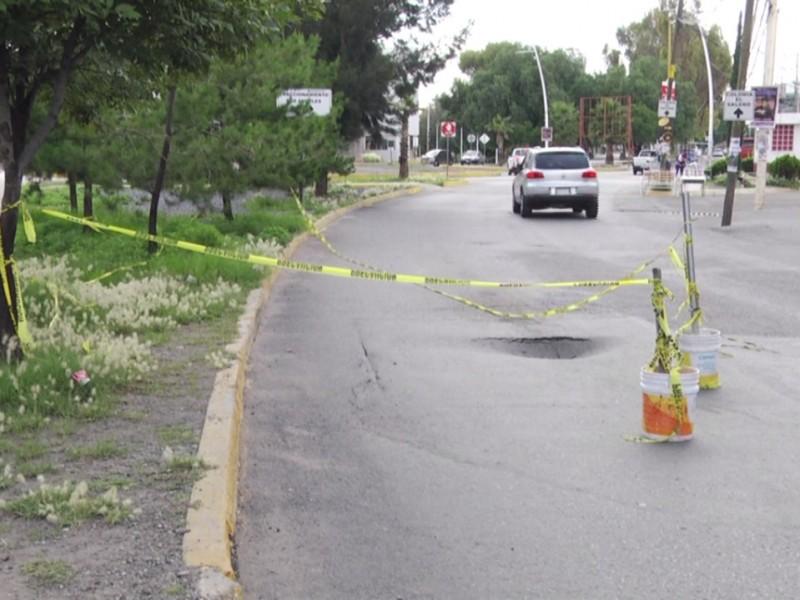 Próximas reparaciones en hundimiento de Avenida García Salinas