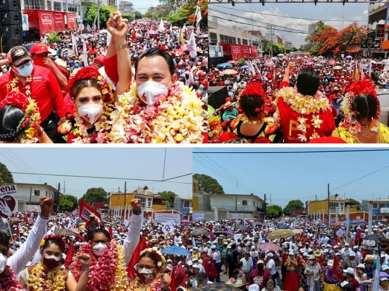 PT y MORENA realizan actos masivos en Juchitán