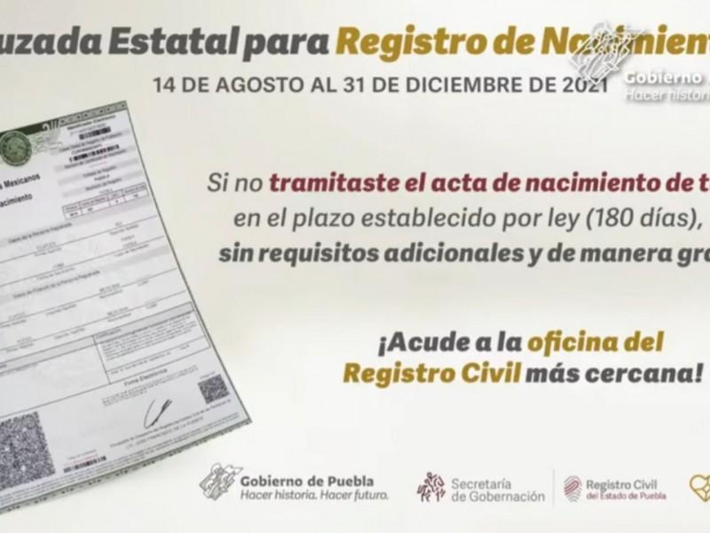 Puebla con rezago de 13,162 niños sin acta de nacimiento