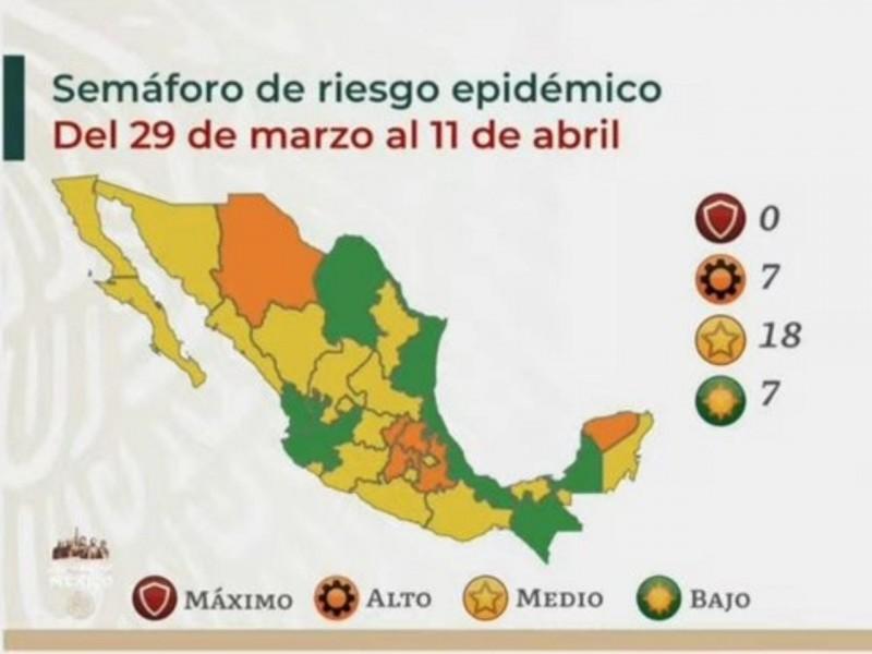 Puebla continúa en color naranja en el semáforo epidemiológico COVID