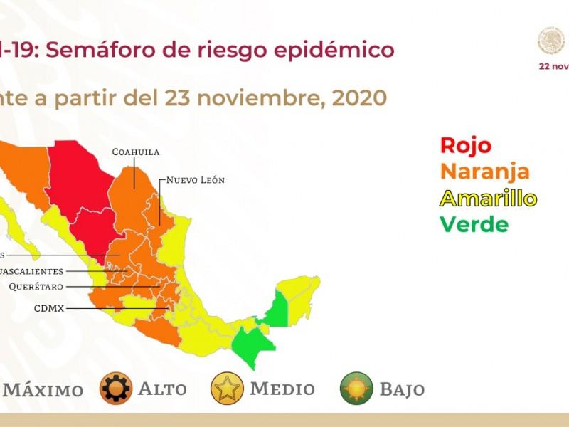Puebla sigue en amarillo en el semáforo epidemiológico