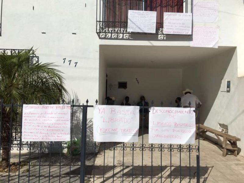 Pueblos originarios se pronuncian en contra de Librado Bacasehua