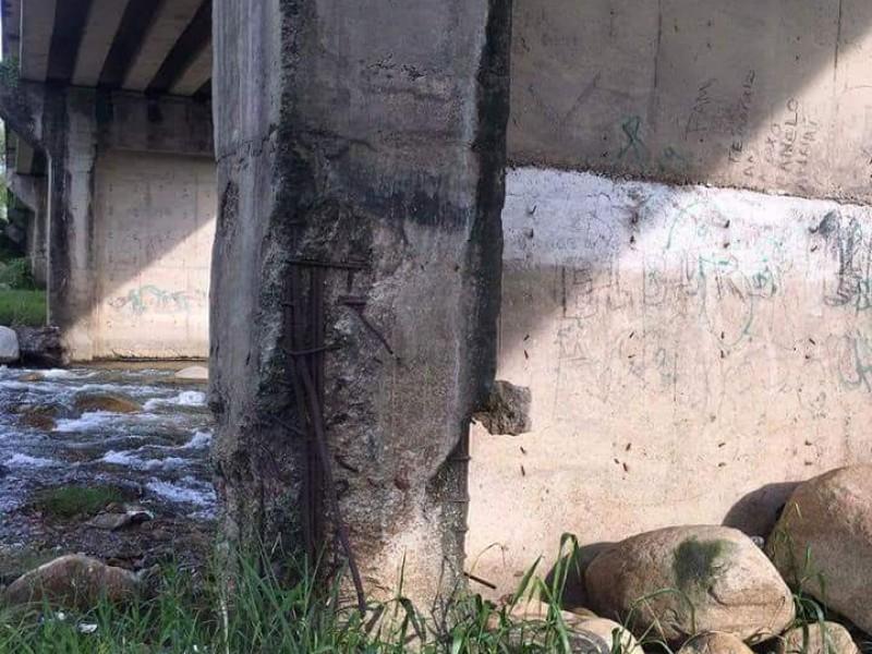 Puentes dañados en el Soconusco