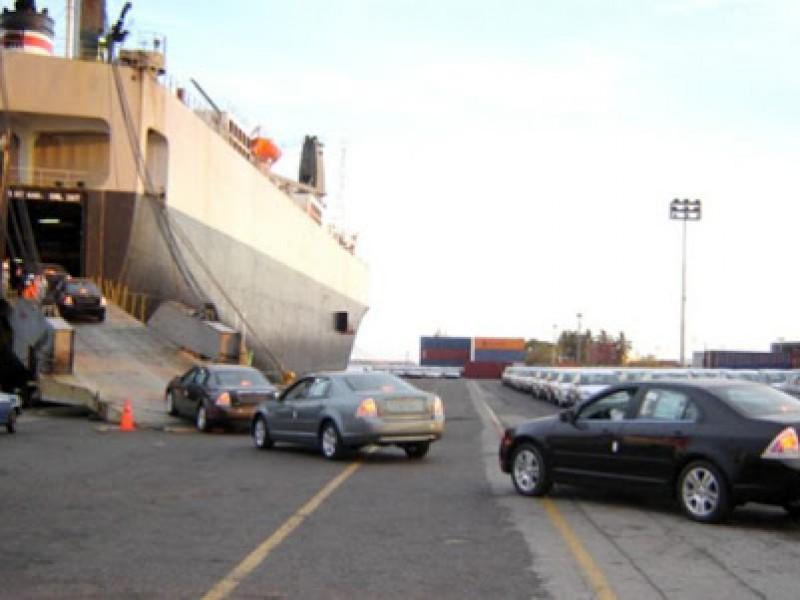 Puertos del Golfo disminuyeron carga automotriz un 41.3 por ciento
