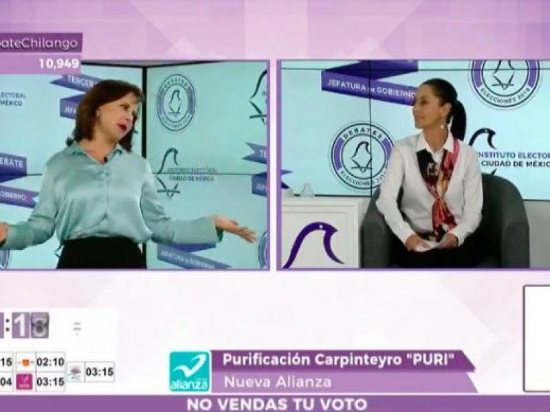 Purificación Carpinteyro arrasa en memes por tercer debate