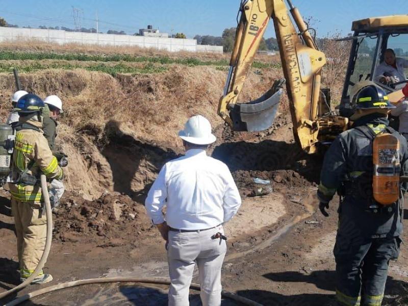 Queda sellada fuga de gas LP en Texmelucan