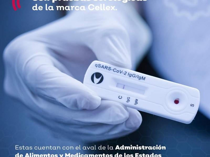 Quedan 10 mil pruebas rápidas de COVID-19 a Salud Jalisco