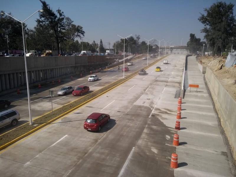 Quedan listos carriles centrales de Túnel Belenes