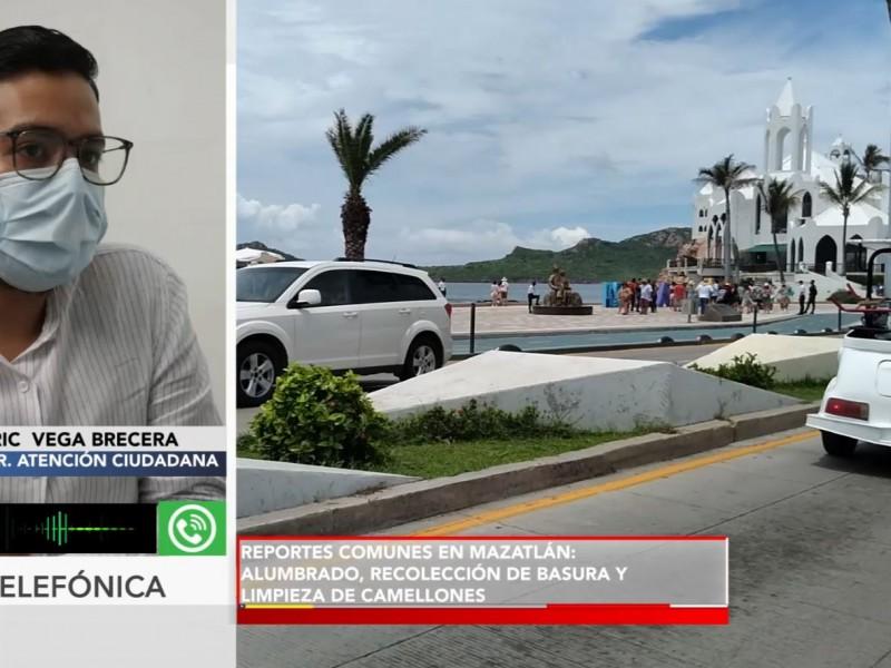 Quejas ciudadanas más comunes:alumbrado, basura y limpieza público en Mazatlán