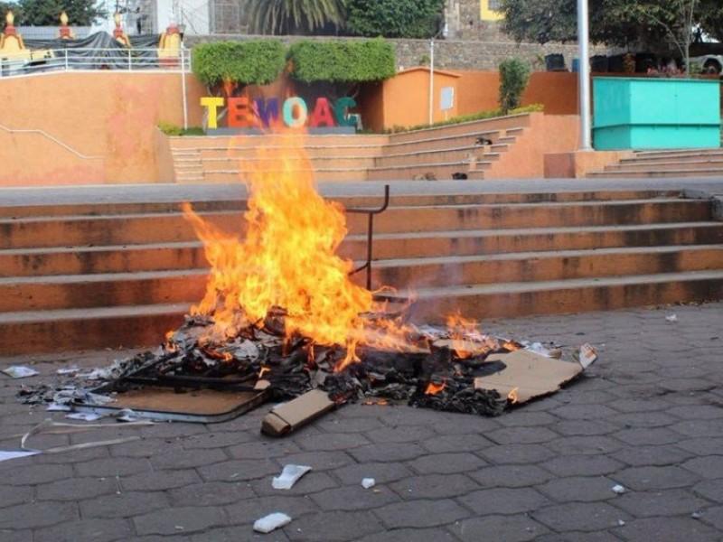 Queman boletas en consulta sobre termoeléctrica en Morelos