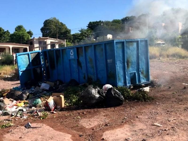 Queman el segundo contenedor de basura