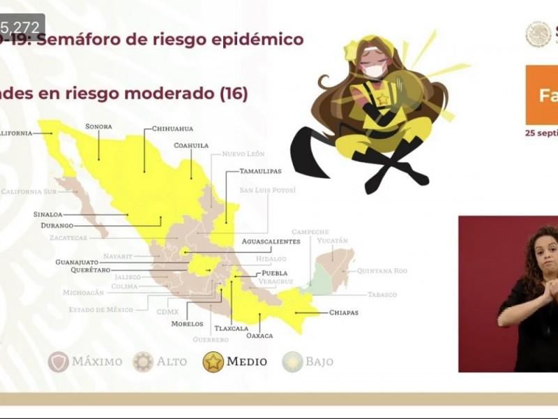 Querétaro cambia a color amarillo en el semáforo epidemiológico COVID-19