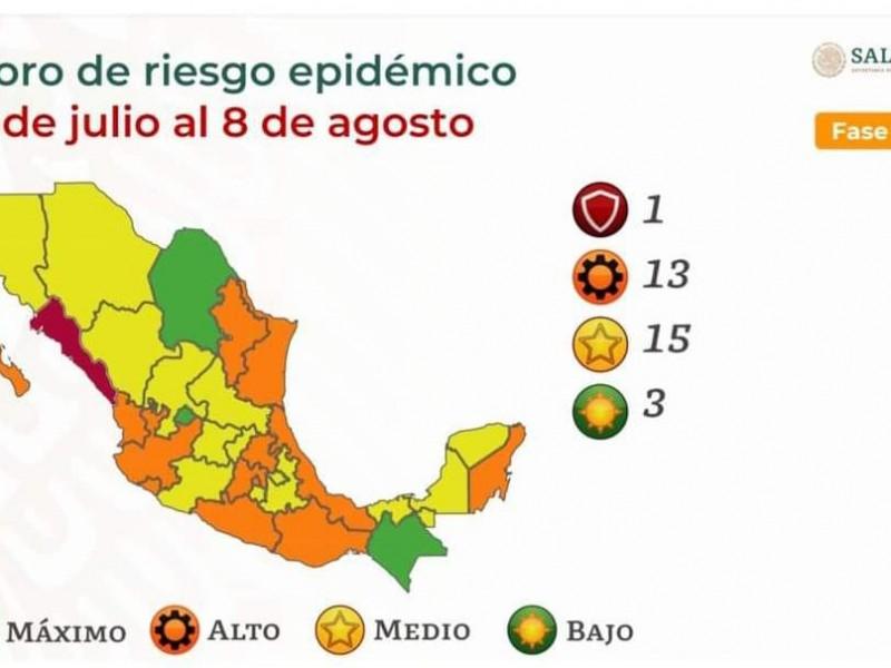 Querétaro en Semáforo Federal amarillo por COVID-19