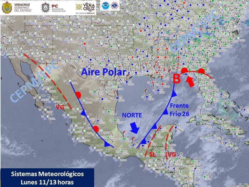 Rachas de viento superan 100 km/h este lunes en Veracruz