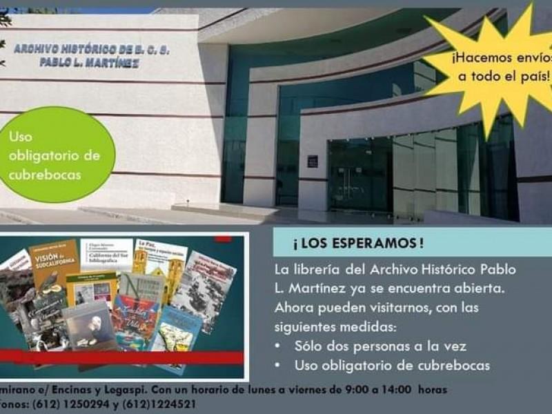 Reabre la librería del Archivo Histórico Pablo L. Martínez