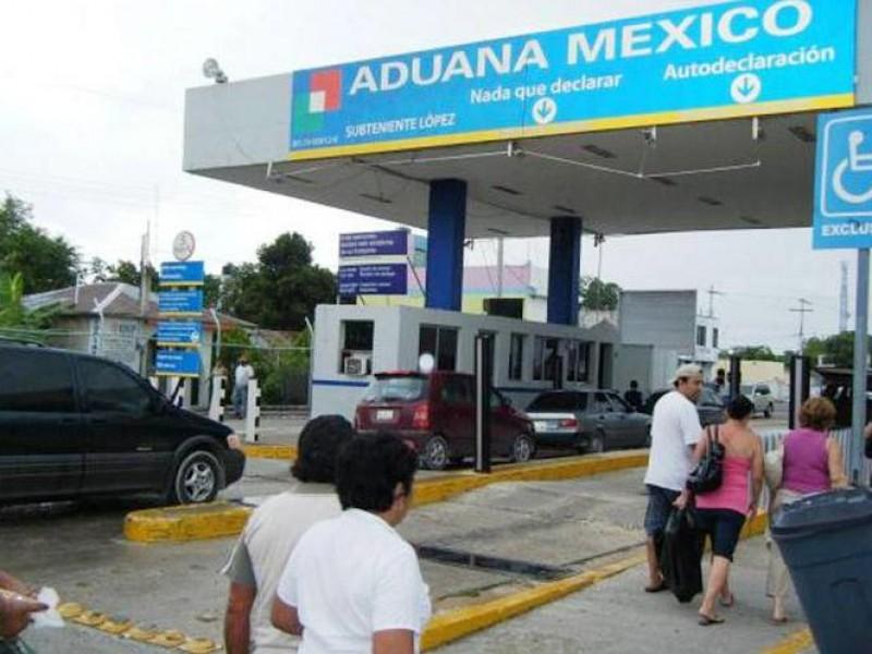 Reabren autoridades, oficinas aduanales en la frontera sur