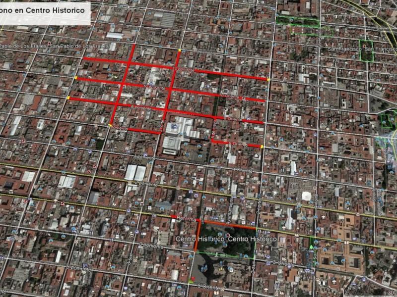 Reabren el paso vehicular en el centro histórico de Puebla