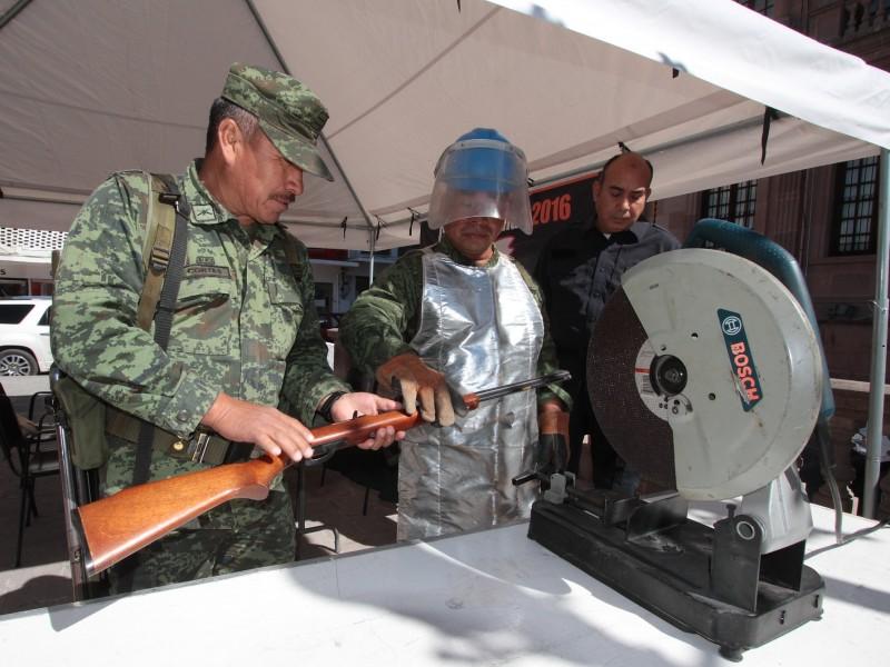 Reactivarán programa de canje de armas en Zacatecas