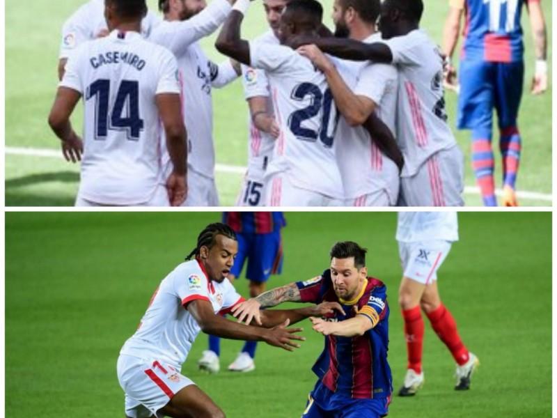 Real Madrid ya es líder. Barcelona y Sevilla repartieron puntos