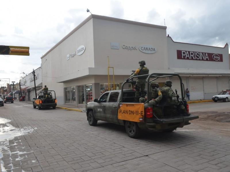 Realiza Ejército recorrido por Fresnillo