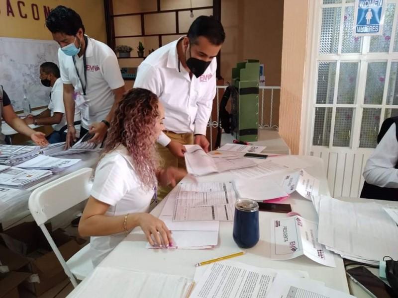 Realiza IEM Jacona sesión de cómputo para elección de Ayuntamiento