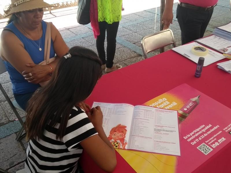 Realiza INE octava Consulta Infantil y Juvenil 2018