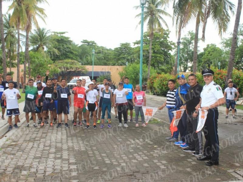 Realizan Carrera Interpolicial Sandunga 2018