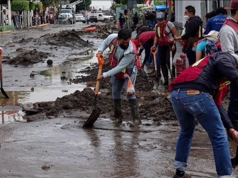 Realizan censo de damnificados por inundaciones en Ecatepec