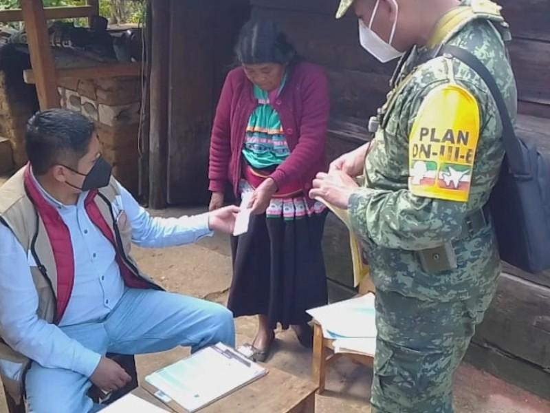 Realizan censo en Chiapas para brindar apoyos a damnificados