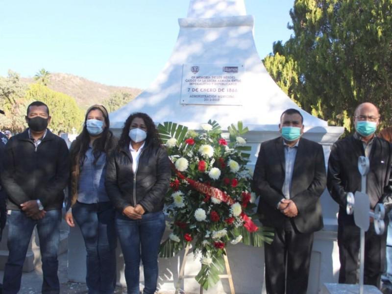 Realizan ceremonia cívica en honor a Héroes caídos en Álamos