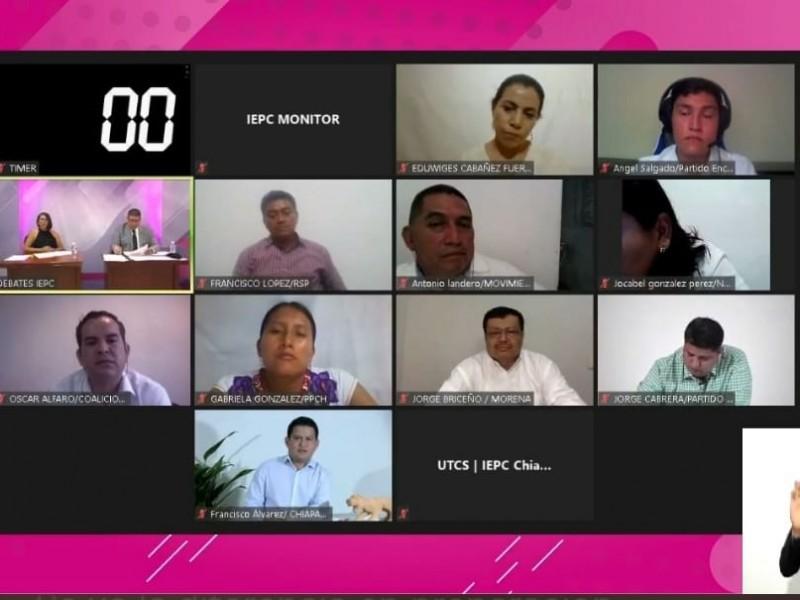 Realizan debate en Palenque con candidatos a presidencia municipal