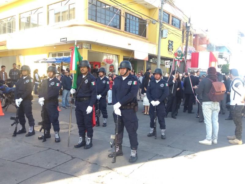 Realizan desfile cívico deportivo de la Revolución mexicana