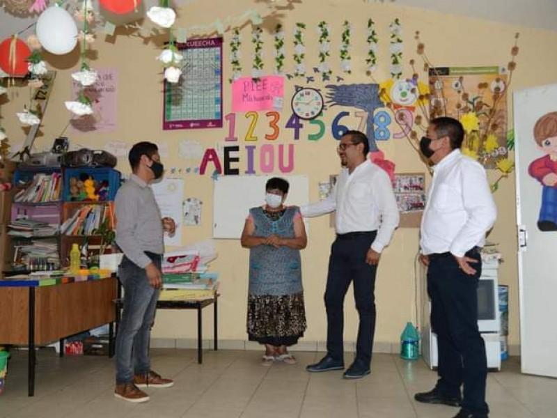 Realizan diagnóstico de infraestructura educativa en Chilchota