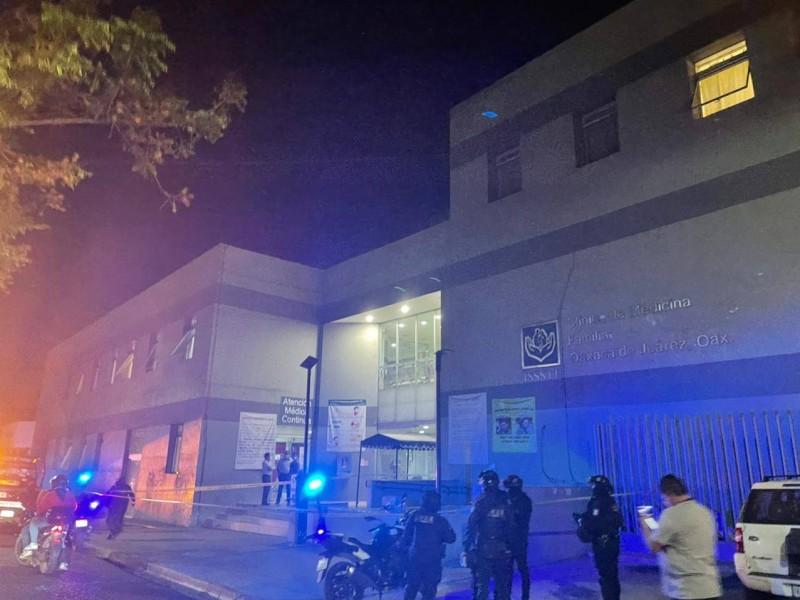 Realizan disparos contra clínica del ISSSTE en Oaxaca