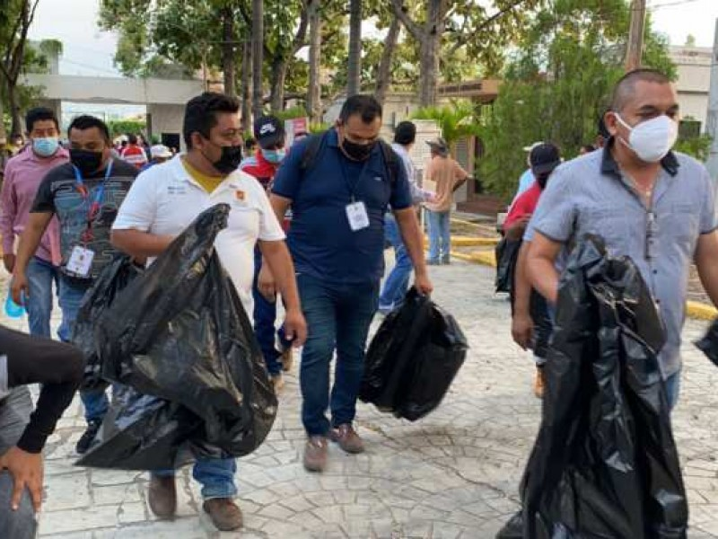 Realizan en TGZ jornada de descacharramiento en panteón municipal