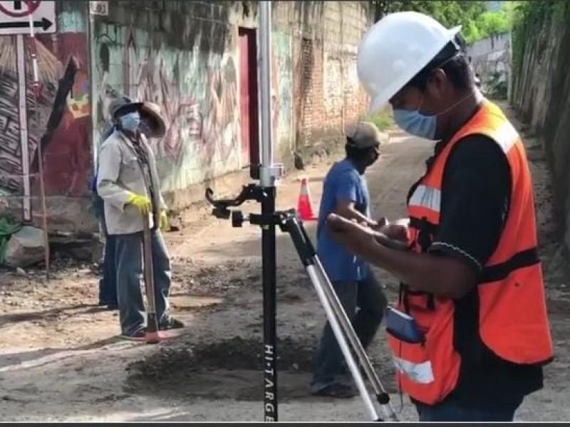 Realizan estudio topográfico para atender problemática de drenaje en Tehuantepec