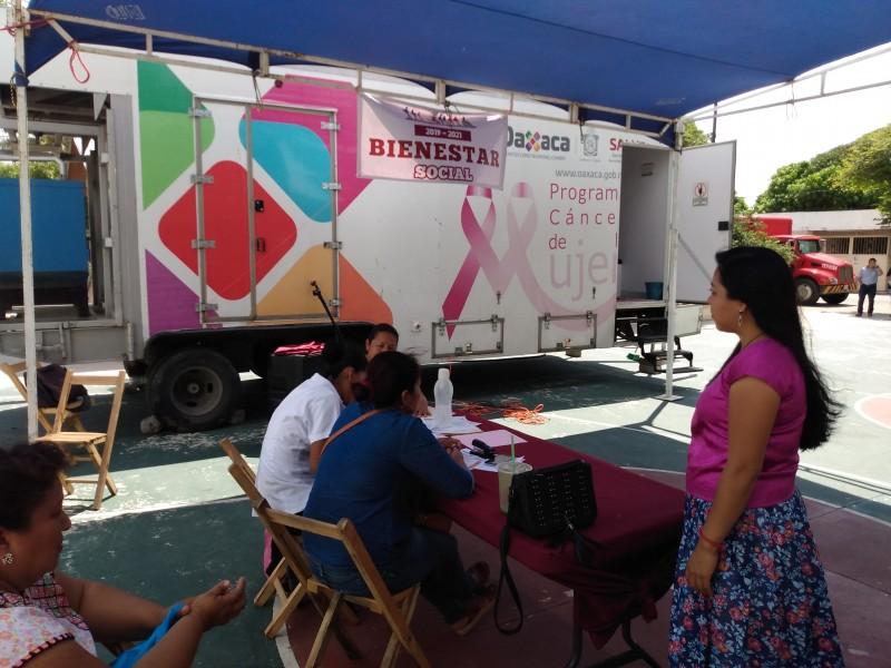 Realizan jornada de detección de cáncer de mama