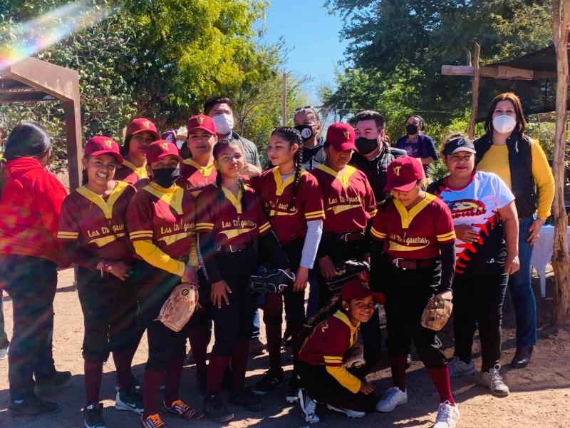 Realizan juego de estrellas de softbol en comunidades yaquis