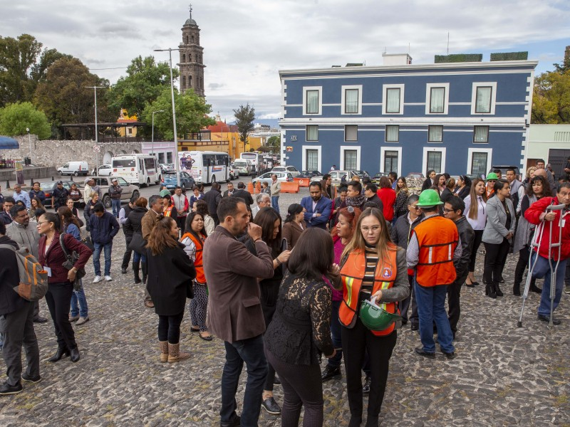 Realizan Macro Simulacro 2020 en Puebla