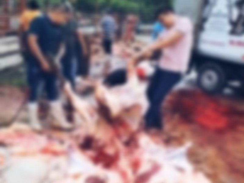Realizan matanza de animales sin medidas higiénicas