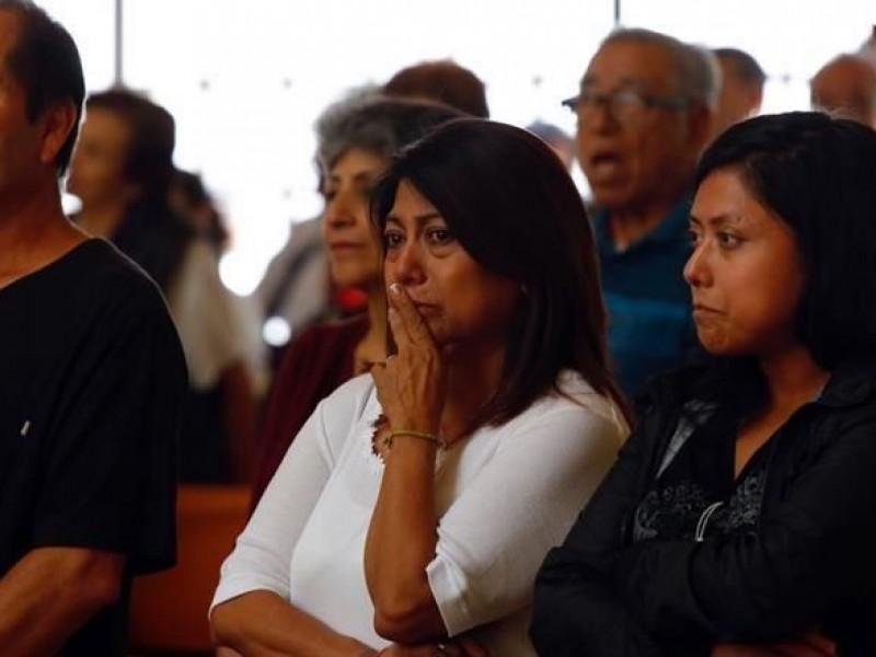 Realizan misa a fallecidos en Multifamiliar de Tlalpan