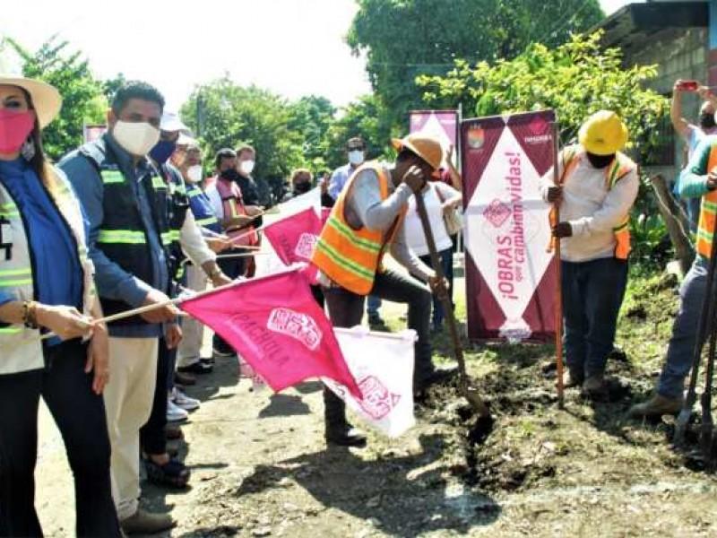 Realizan obras públicas en Tapachula