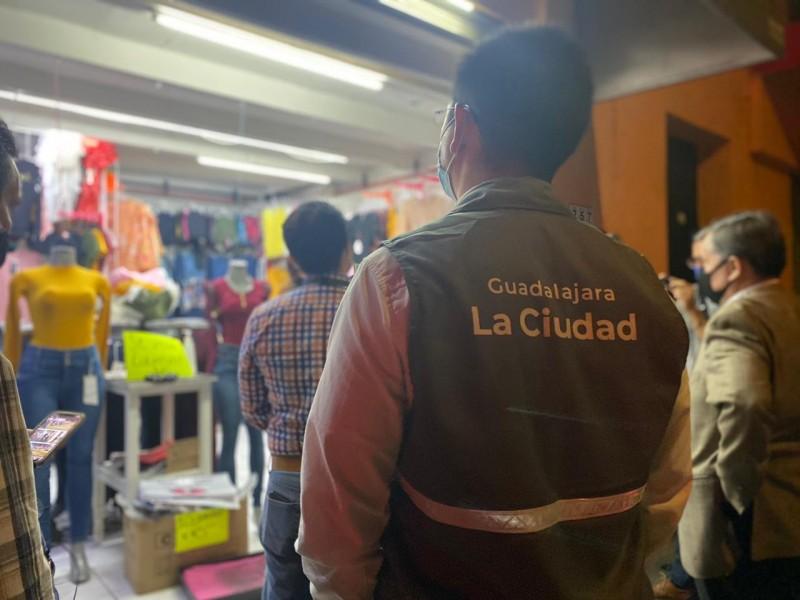 Realizan operativo en Guadalajara para supervisar cumplimiento de botón