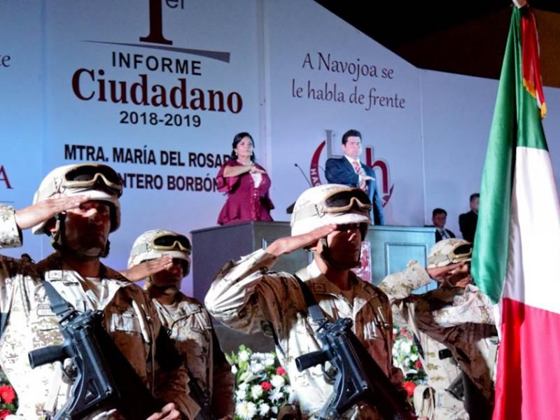 Realizan primer Informe de Gobierno en Navojoa