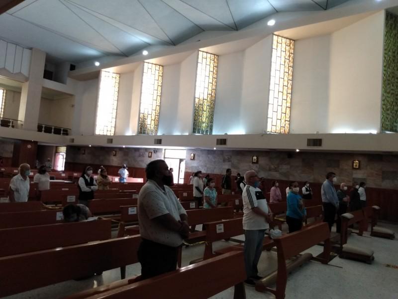 Realizan primer misa en Torreón tras la contingencia del Covid-19
