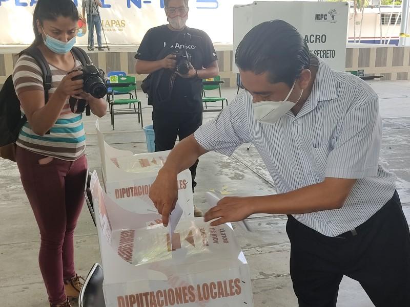 Realizan simulacro de elecciones INE y el IEPC